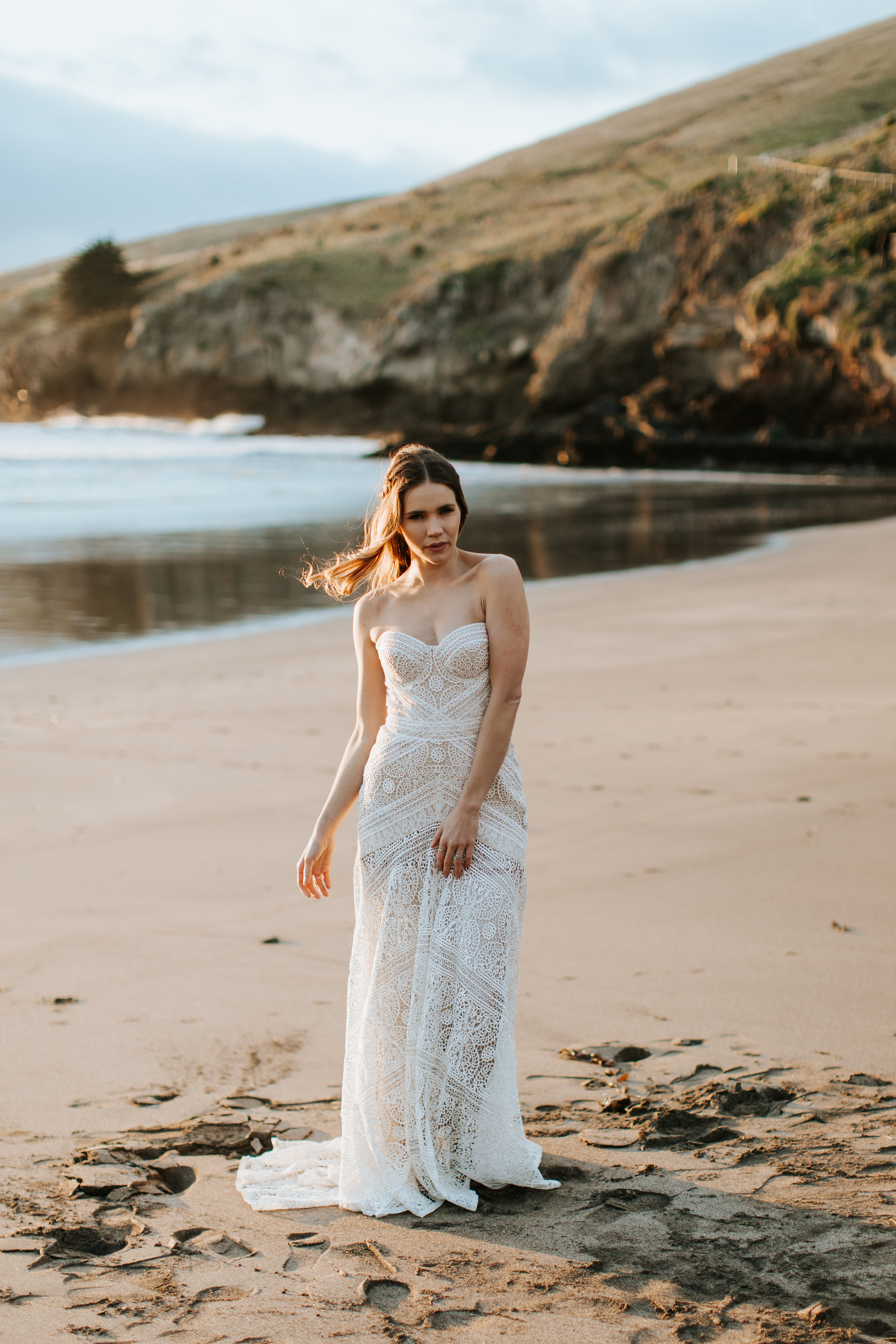 Christchurch beach wedding