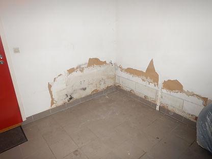 pieds de murs moisis