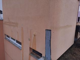 infiltration d'eau façade