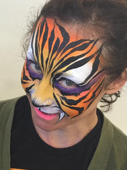 Face paint Tiger