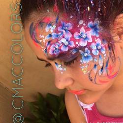 Face paint flowers