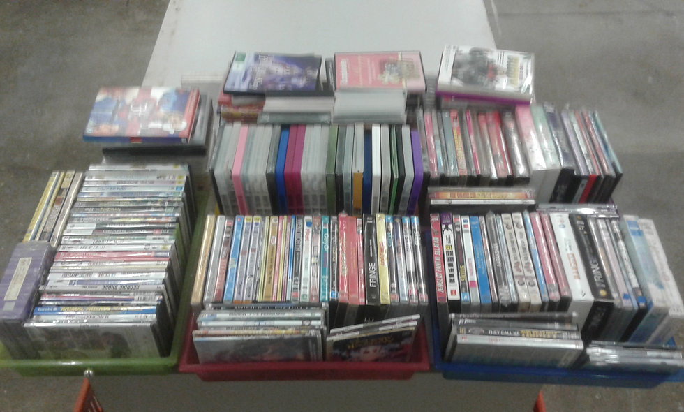 Secondhand DVDs priced @ each