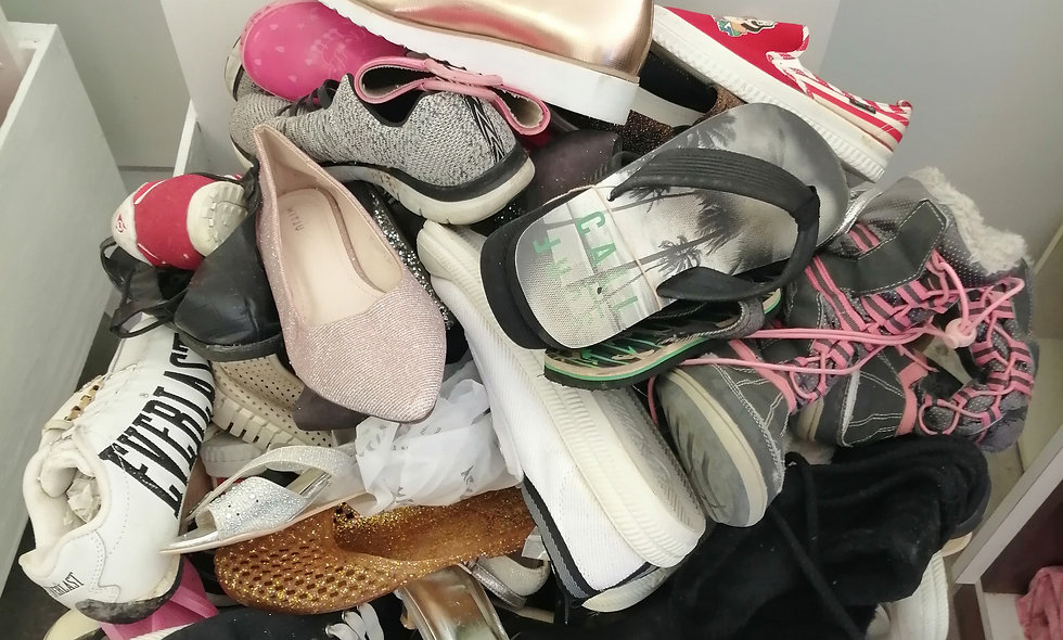 Secondhand shoes priced @ each