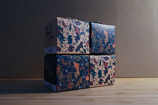 Packdd Singapore Batik Box Print