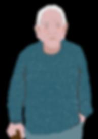 Carers Card Illustration Man no backgrou