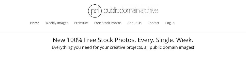 public domain archive web look