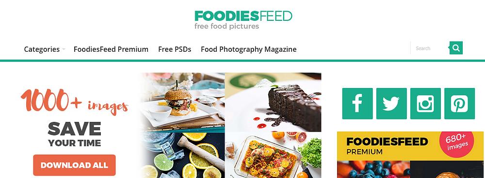 foodies food website look