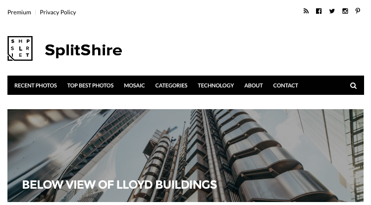 splitshire website look