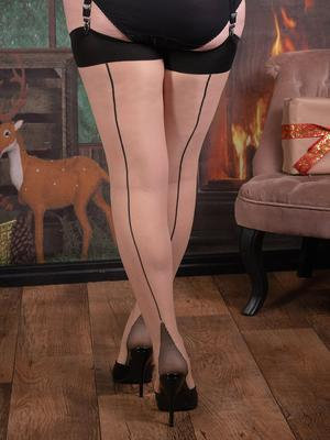 Contrast Glamour Seamed Stockings