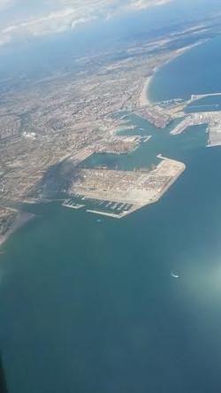 Valencia vue d'avion