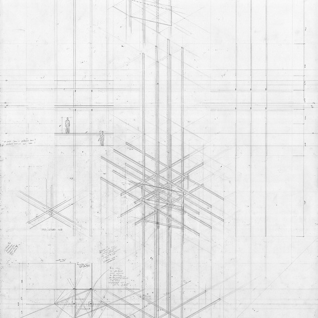 Study drawing - Axonometry, plans and sections