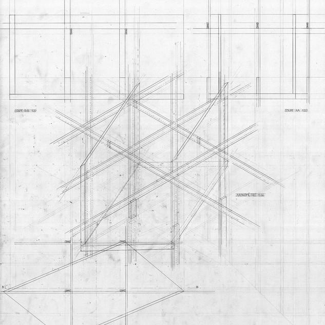 Study - Axonometry, plans and sections