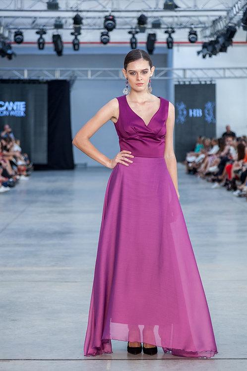 Purple Long Luxury Dress