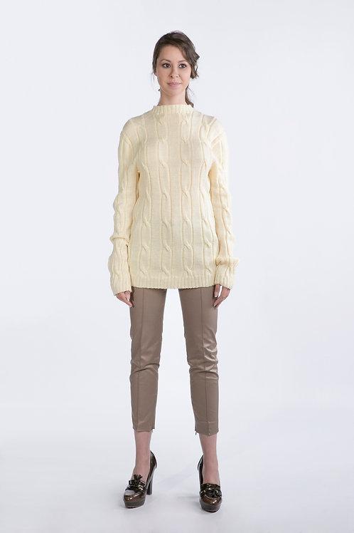 White Handmade Pullover