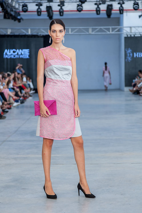 Grey & Pink pattern dress