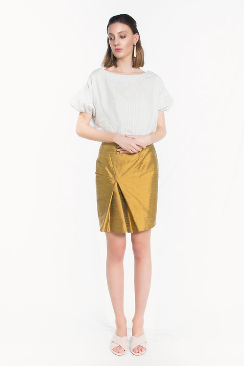 Asymmetrical Golden Skirt