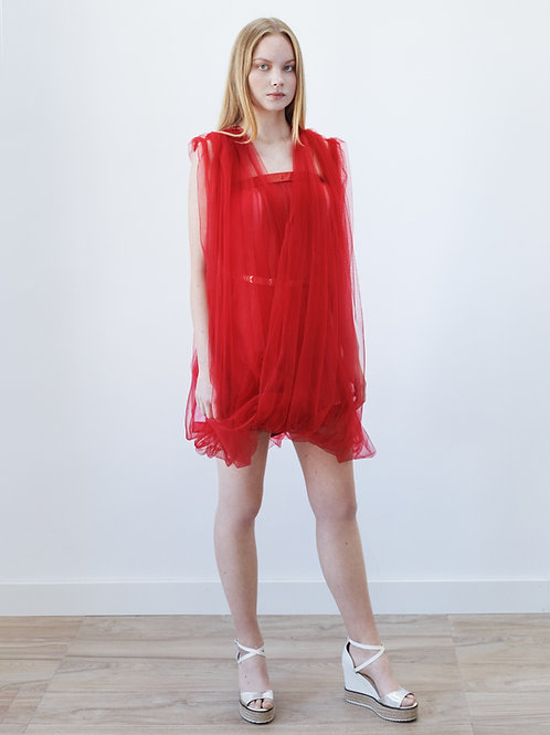 Red Short Tulle Dress