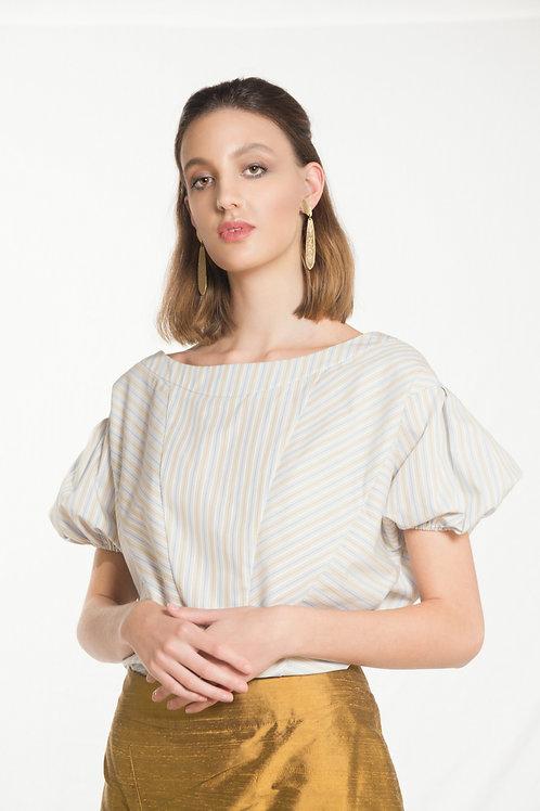 Asymmetrical Strips Top