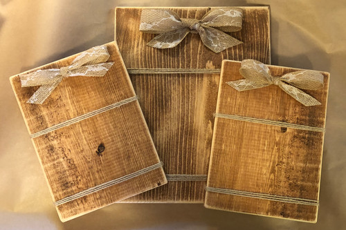 77539851791 Picture Frames with Burlap Bow Starting at