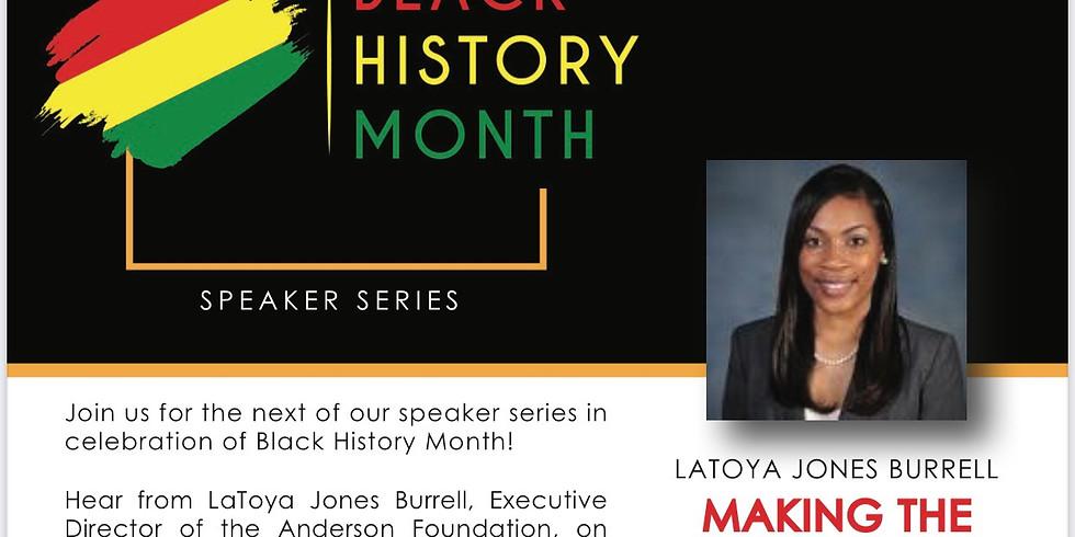 Black History Month Speaker Series
