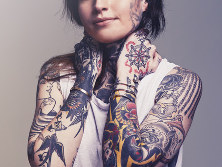 Diferença entre Tatuagens Cicatrizadas e Fresca
