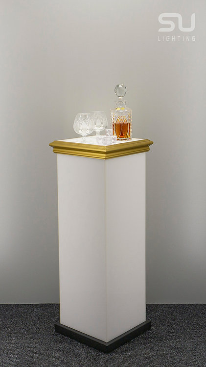 Pedestal white, gold gloss