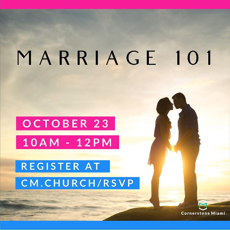 MARRIAGE 101 SEMINAR