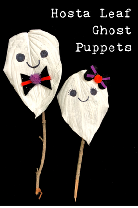 HOSTA LEAF GHOST PUPPETS
