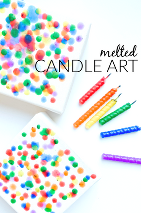 MELTED CANDLE ART