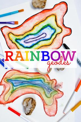 Rainbow Geodes