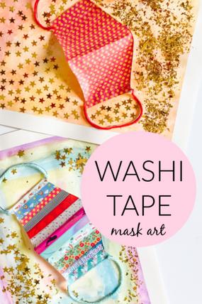 WASHI TAPE MASK ART