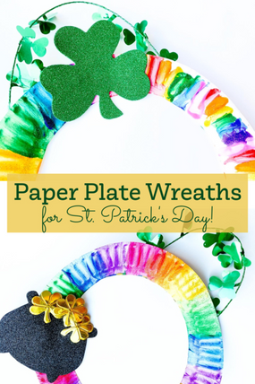 PAPER PLATE WREATHS FOR ST. PATRICK'S DAY