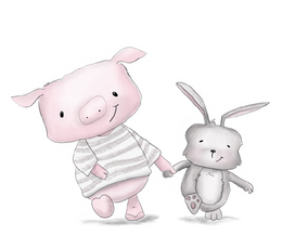 Pig and Bunny Friends