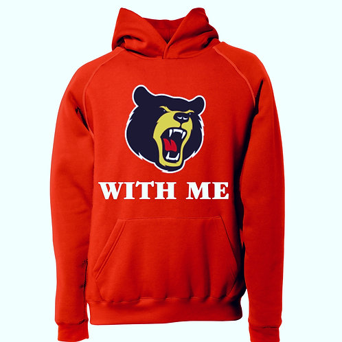Bear With Me Hoodie Red