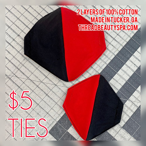 TIES - 2 COLOR SOLIDS | Fitted Mask