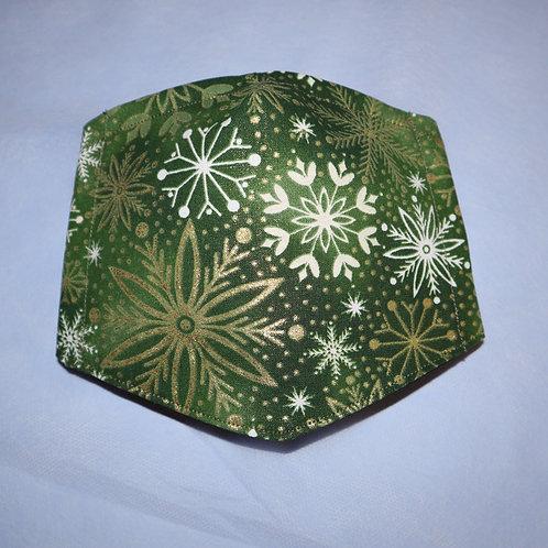 Christmas: Green Snowflakes