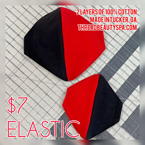 ELASTIC - 2 COLOR SOLIDS | Fitted Mask