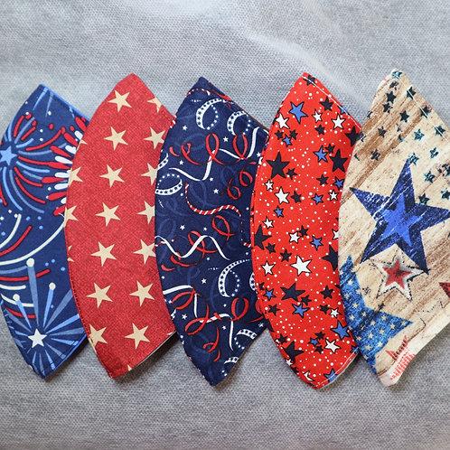 5 pack - Assorted Patriotic Masks