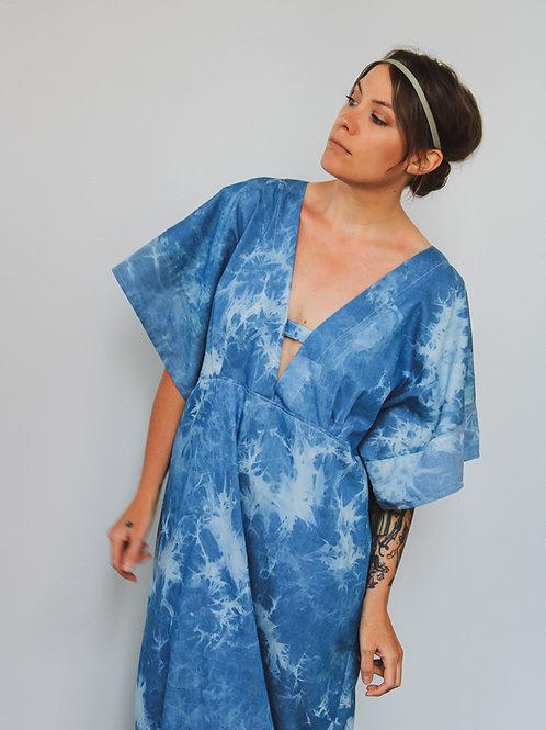 Blue Dip Dye Kaftan