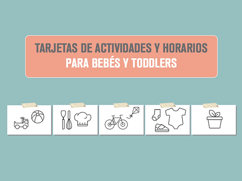 Tarjetas de actividades para bebes y niños