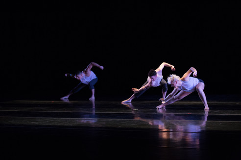 Alethea Alexander, Sean Rosado and Daniel Costa with the Chamber Dance Company