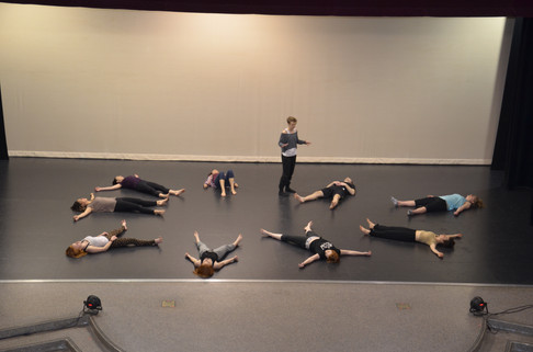 warm-up class at Heiner Theater