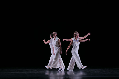 Alethea Alexander and Lucie Baker, Alexandra Bradshaw-Yerby & Adele Nickel with the Chamber Dance Company