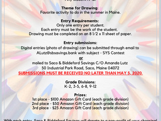 """Enter the """"SKETCH YOUR SUMMER"""" drawing contest from Saco & Biddeford Savings to win gr"""