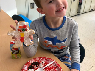 Holiday fun in Mrs. Morowski's and Miss Armstrong's classes!