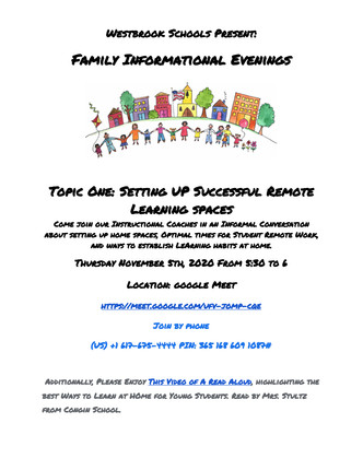 Family Info Evening!