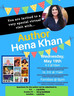 Be sure to tune in for our special guest Hena Khan!