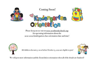 Coming Soon ~ Kindergarten Orientation!