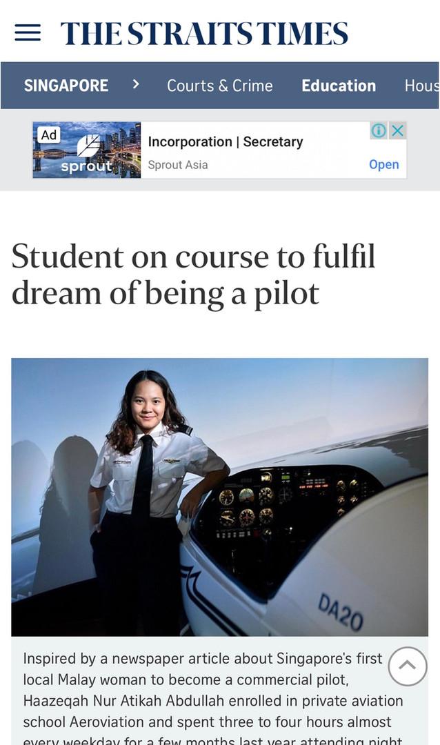 Aeroviation _ Straits Times (Haazeqah)