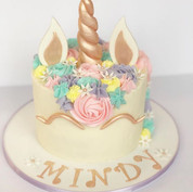 Champagne Gold Unicorn Cake